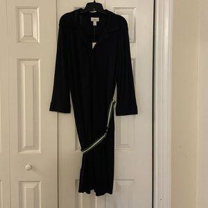 NWT Loft Navy Belted Dress Size 14